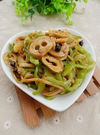 豆豉青椒炒面筋