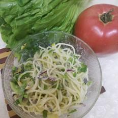薰衣草蔬菜凉面