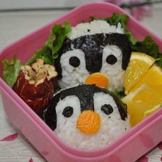 可爱的企鹅便当