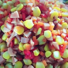 玉米香肠红萝卜