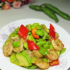 虾仁炒蚕豆