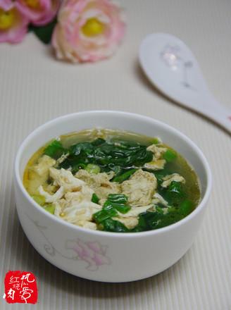 空心菜叶鸡蛋汤的做法