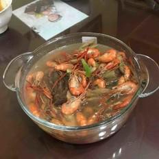 盐水野菜河虾