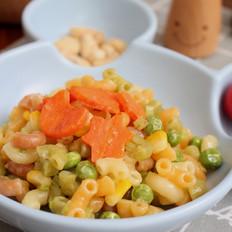 宝宝辅食食谱  豌豆奶酪焗意面