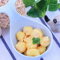 蛋黄虾滑 宝宝辅食食谱