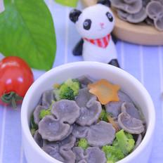 黑芝麻蝴蝶面片 宝宝辅食食谱