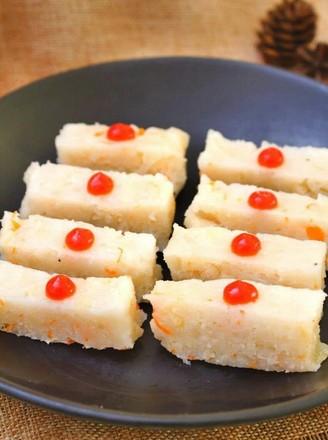 鲜贝萝卜蒸糕  宝宝健康食谱的做法