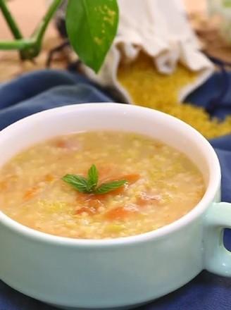 小米疙瘩汤  宝宝健康食谱的做法