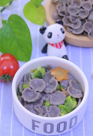 黑芝麻蝴蝶面片 宝宝辅食食谱的做法