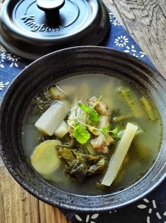 砂锅炖酸萝卜老鸭汤的做法