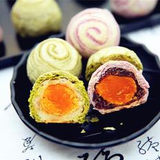 抹茶紫薯蛋黄酥#长帝烘焙节#