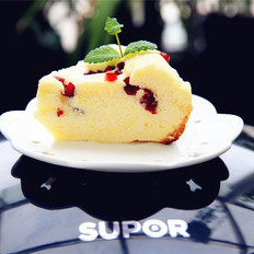 电饭煲版蔓越莓戚风蛋糕#苏泊尔第二季晋级赛#