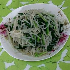 豆芽韭菜炒粉