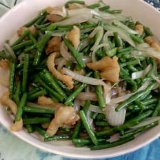 肉渣炒豇豆