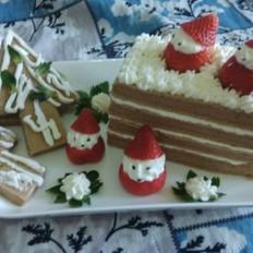 圣诞节可可蛋糕