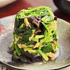 芥末菠菜拌木耳