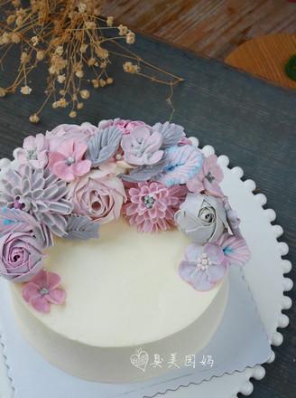 完美海绵奶酪裱花蛋糕的做法