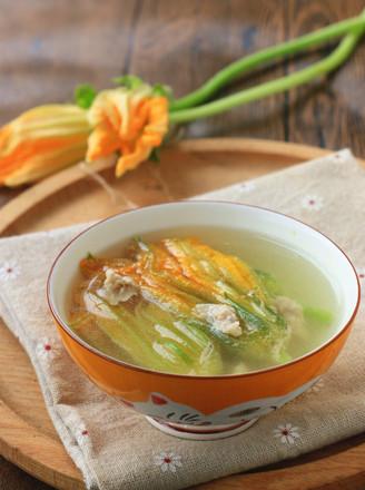 南瓜花瘦肉汤的做法