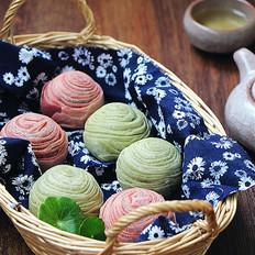抹茶麻茸酥&红曲麻茸酥