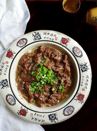 金针菇蒸牛肉的做法