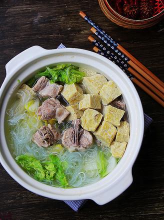 砂锅白菜冻豆腐的做法