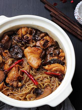 松蘑炖鸡的做法