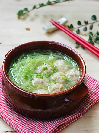 青萝卜丸子汤的做法