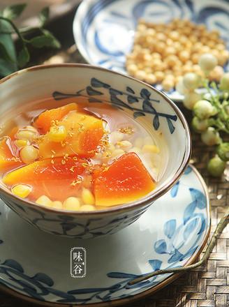 木瓜玉米大豆甜汤的做法