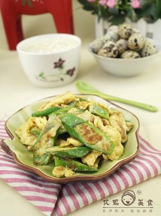 海鲜鸡蛋炒秋葵的做法