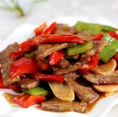 三椒炒猪肝
