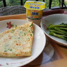 葱花胡萝卜鸡蛋煎饼(减脂版)