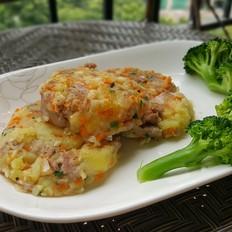 肉碎杂蔬土豆饼(减脂版)
