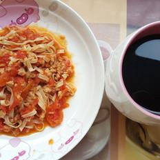 番茄芝士肉碎拌面(减脂版)