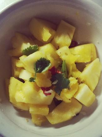 凉拌菠萝的做法