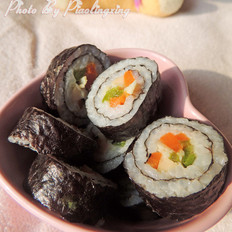 青椒胡萝卜寿司