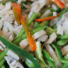藕丝炒青椒