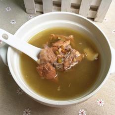 绿豆百合排骨汤