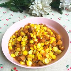 蚝油玉米鸡肉丁