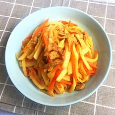 剁椒肉丝炒凉薯#晚餐#