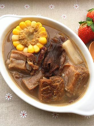 腊牛腩煲玉米松茸汤的全部排骨番茄炖作品汤怎么做图片