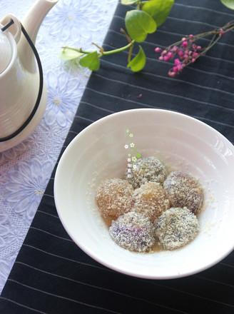 速冻水晶汤圆变身椰蓉糖不甩的做法