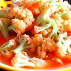 西红柿炒有机菜花