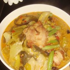 豆角水煮走油肉片的做法[图]
