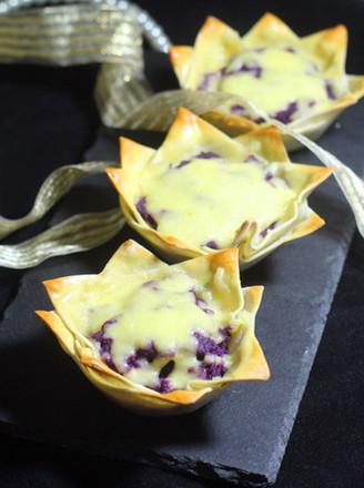 马苏里拉芝士紫薯杯的做法