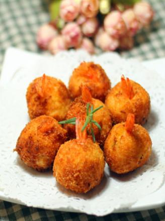 土豆泥虾球的做法