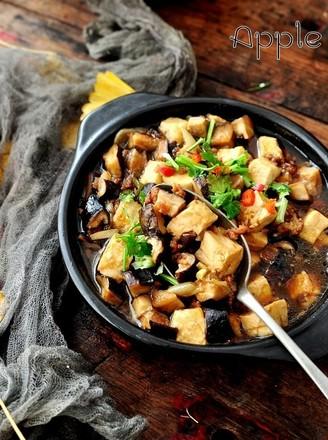 香菇肉末豆腐煲的做法