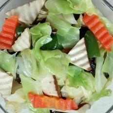 包菜豆干木耳拌