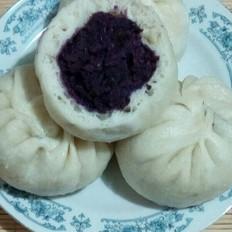 松软红豆紫薯包