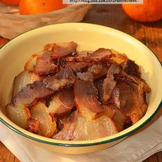 腊八豆豉蒸腊肉
