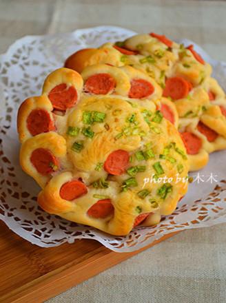 火腿花环面包